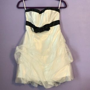 Black and white sparkly homecoming dress
